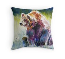 The Rainbow Bear Throw Pillow