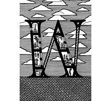 Letter W Architecture Section Alphabet Photographic Print