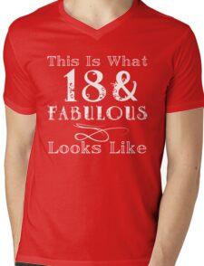 Fun Fabulous 18th Birthday Mens V-Neck T-Shirt