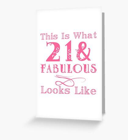 Fun Fabulous 21st Birthday Greeting Card