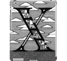Letter X Architecture Section Alphabet iPad Case/Skin