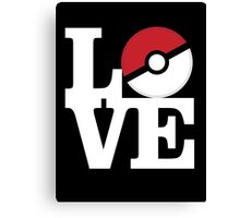 Pokemon Love Canvas Print