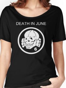 Death In June Skull Punk Rock Women's Relaxed Fit T-Shirt