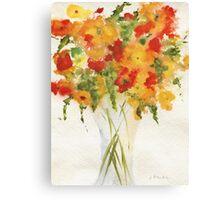Yellow Orange Flowers Canvas Print