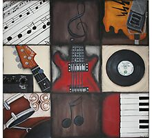 Music Squares Photographic Print