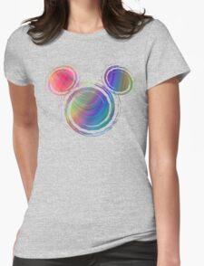 colorful  mickey Womens Fitted T-Shirt