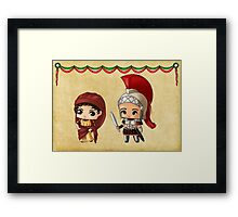 Chibi Ancient Romans Framed Print
