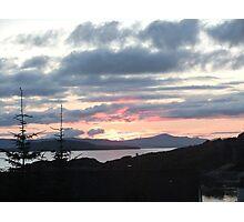 Last rays over Tingle Creek Photographic Print