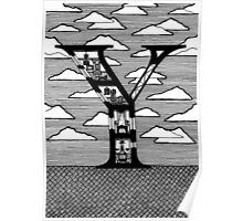 Letter Y Architecture Section Alphabet Poster