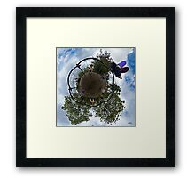 Siblings on a 6 Seater Swing Framed Print