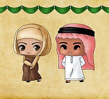Chibi Saudi Arabians by artwaste