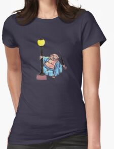 Buddha in the Rain Womens Fitted T-Shirt