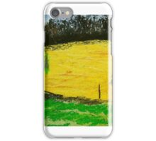 two trees along a fence French countryside iPhone Case/Skin