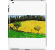 two trees along a fence French countryside iPad Case/Skin
