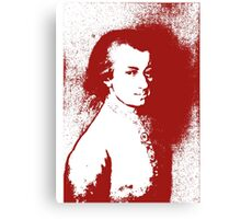 Music for my eyes - Splashed Red Canvas Print