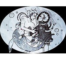 Space Siren & Punk Astronaut Photographic Print