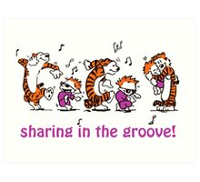 Sharing in the Groove! Art Print