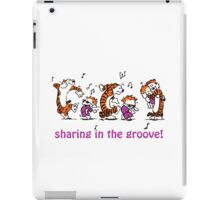 Sharing in the Groove! iPad Case/Skin
