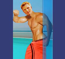 Blond guy at the pool Unisex T-Shirt