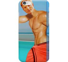 Blond guy at the pool iPhone Case/Skin