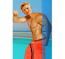 Blond guy at the pool Photographic Print