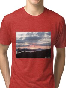 Last rays over Tingle Creek Tri-blend T-Shirt