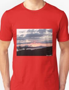 Last rays over Tingle Creek Unisex T-Shirt