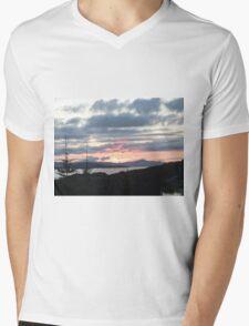 Last rays over Tingle Creek Mens V-Neck T-Shirt