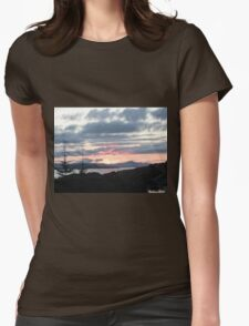 Last rays over Tingle Creek Womens Fitted T-Shirt