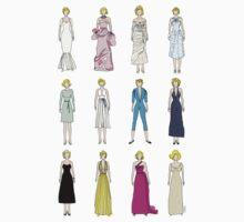 Marilyn Fashion Pattern on Black Kids Tee