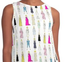 Marilyn Fashion Pattern on White Contrast Tank