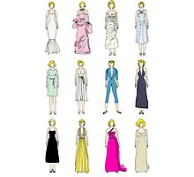 Marilyn Fashion Pattern on White Photographic Print