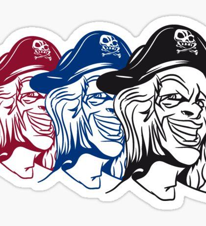 Piraten cool dreispitz clown  Sticker