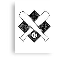 Baseball Crest Canvas Print