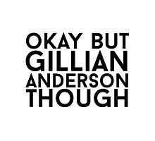 Gillian Anderson Photographic Print