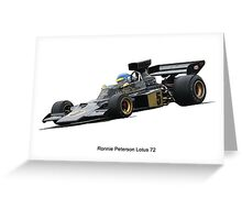 Lotus 72 Ronnie Peterson Greeting Card