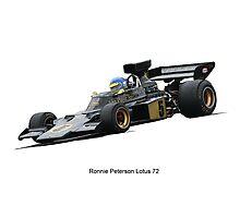 Lotus 72 Ronnie Peterson Photographic Print