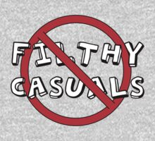No Filthy Casuals Allowed - Gamer Geek Meme One Piece - Long Sleeve