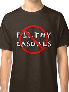 No Filthy Casuals Allowed - Gamer Geek Meme Classic T-Shirt