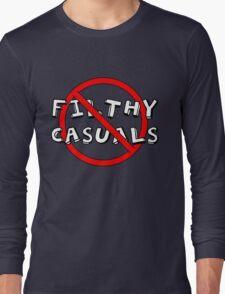 No Filthy Casuals Allowed - Gamer Geek Meme Long Sleeve T-Shirt