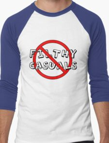 No Filthy Casuals Allowed - Gamer Geek Meme Men's Baseball ¾ T-Shirt