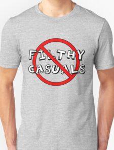 No Filthy Casuals Allowed - Gamer Geek Meme Unisex T-Shirt