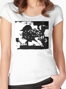 Birdy Graphic Doodle Women's Fitted Scoop T-Shirt