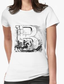 Soldier Alphabet Letter B Womens Fitted T-Shirt