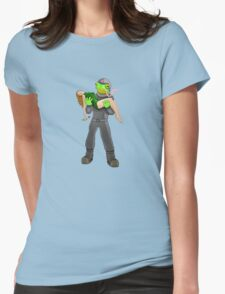 Space Frog Womens Fitted T-Shirt