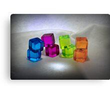 Multi Colored Cubes Metal Print