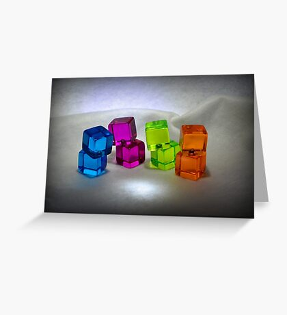 Multi Colored Cubes Greeting Card