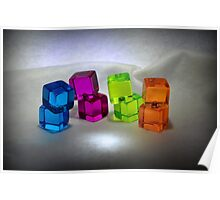 Multi Colored Cubes Poster