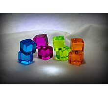 Multi Colored Cubes Photographic Print