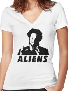 I'm Not Saying It's Aliens....But Aliens Women's Fitted V-Neck T-Shirt